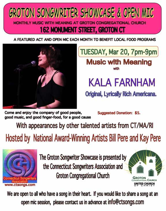 Songwriter Showcase - Kala Farnham & Bill Pere